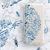 Indigo Henna - Clear TPU Case Cover - Milkyway Cases -  iPhone - Samsung - Clear Cut Silicone Phone Case Cover