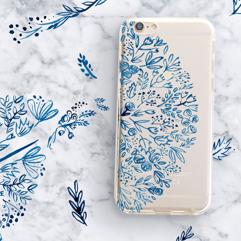Indigo Henna - Clear TPU Case Cover