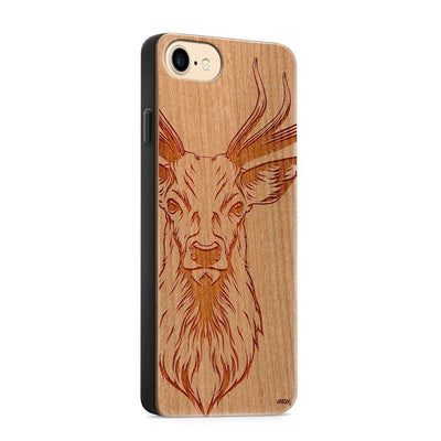 Wood  - Stag - Milkyway Cases -  iPhone - Samsung - Clear Cute Silicone Phone Case Cover
