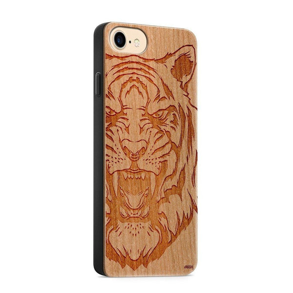 Wood  - Queen of the Jungle - Milkyway Cases -  iPhone - Samsung - Clear Cute Silicone Phone Case Cover