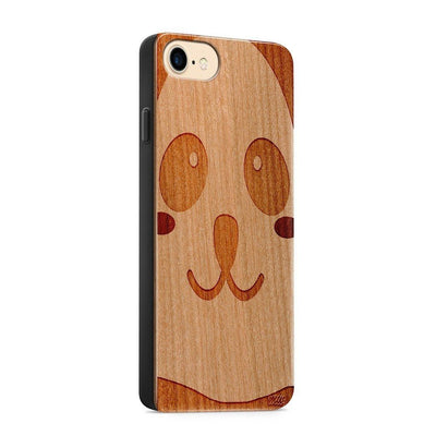 Wood  - Panda - Milkyway Cases -  iPhone - Samsung - Clear Cute Silicone Phone Case Cover