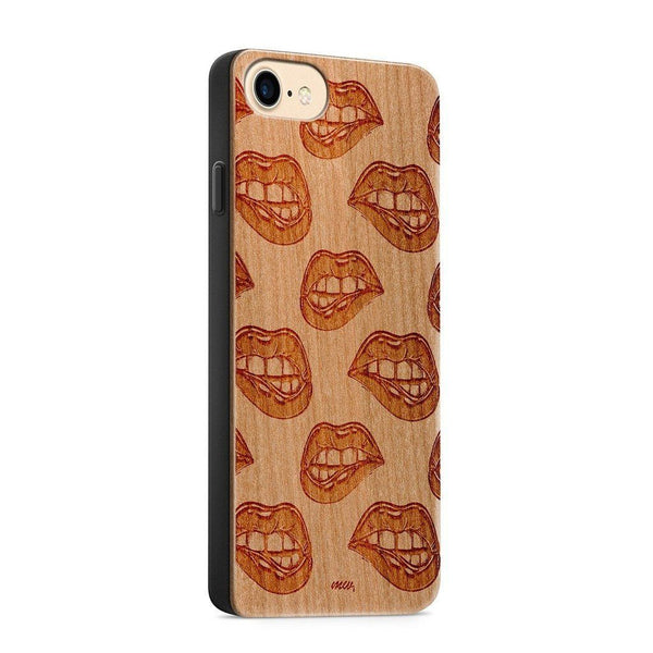 Wood  - Fatal - Milkyway Cases -  iPhone - Samsung - Clear Cute Silicone Phone Case Cover