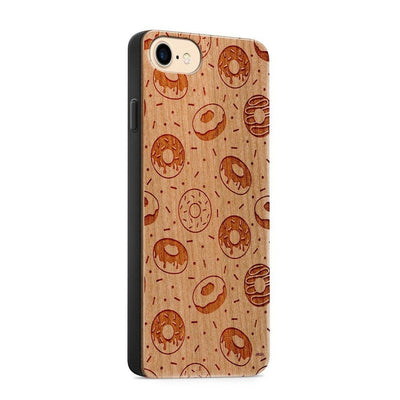 Wood  - Donut Love - Milkyway Cases -  iPhone - Samsung - Clear Cute Silicone Phone Case Cover