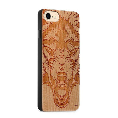 Wood  - Wolf Beast - Milkyway Cases -  iPhone - Samsung - Clear Cute Silicone Phone Case Cover