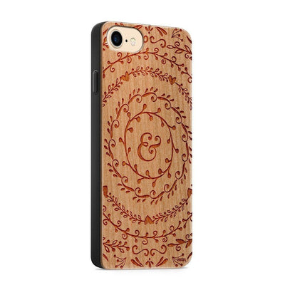 Wood  - Laurel Ampersand - Milkyway Cases -  iPhone - Samsung - Clear Cute Silicone Phone Case Cover