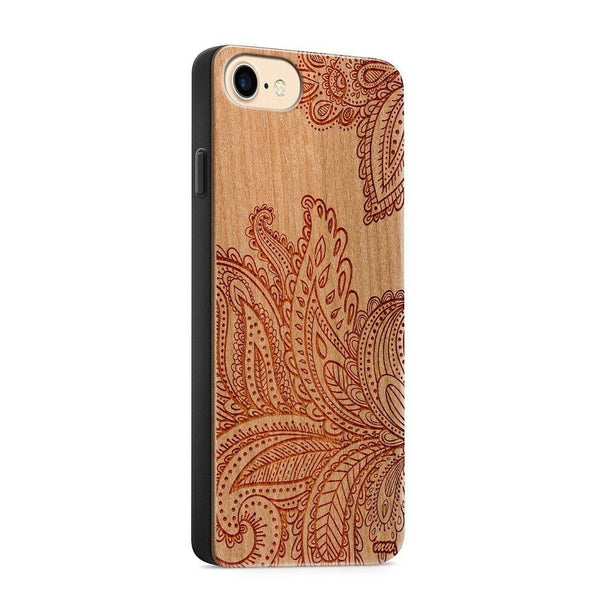 Wood  - Paisley - Milkyway Cases -  iPhone - Samsung - Clear Cute Silicone Phone Case Cover