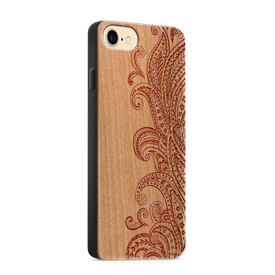 Wood  - Dona Floresca - Milkyway Cases -  iPhone - Samsung - Clear Cute Silicone Phone Case Cover