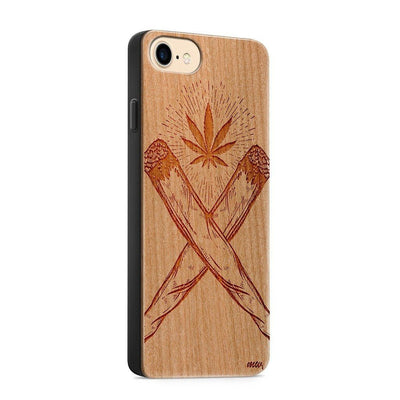 Wood  - Crossed Joint - Milkyway Cases -  iPhone - Samsung - Clear Cute Silicone Phone Case Cover