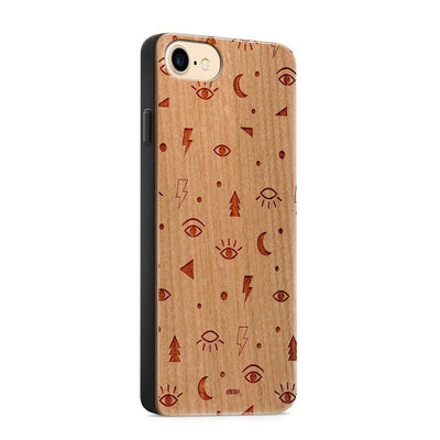 Wood  - Point Of View - Milkyway Cases -  iPhone - Samsung - Clear Cute Silicone Phone Case Cover