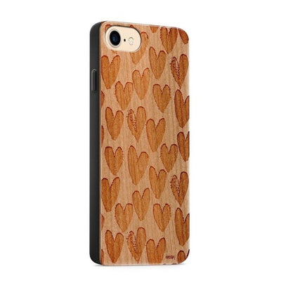 Wood  - One Love - Milkyway Cases -  iPhone - Samsung - Clear Cute Silicone Phone Case Cover