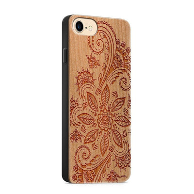 Wood  - Winter Mandala - Milkyway Cases -  iPhone - Samsung - Clear Cute Silicone Phone Case Cover