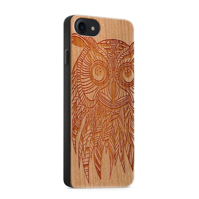 Wood  - Kwago Owl - Milkyway Cases -  iPhone - Samsung - Clear Cute Silicone Phone Case Cover