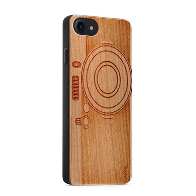 Wood  - Camera - Milkyway Cases -  iPhone - Samsung - Clear Cute Silicone Phone Case Cover