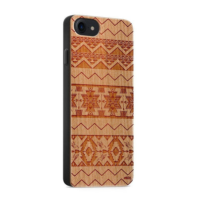 Wood  - Mixed Up Aztec - Milkyway Cases -  iPhone - Samsung - Clear Cute Silicone Phone Case Cover