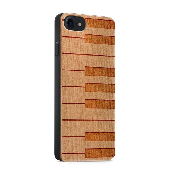 Wood  - Piano Keys - Milkyway Cases -  iPhone - Samsung - Clear Cute Silicone Phone Case Cover