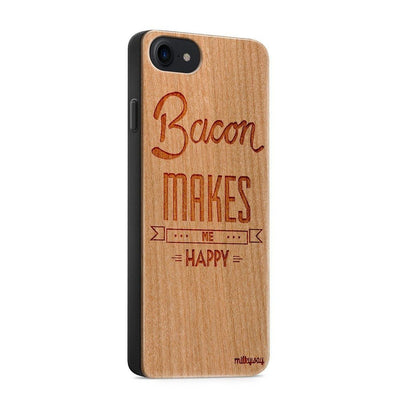 Wood  - Bacon Makes Me Happy iphone 6 7 8