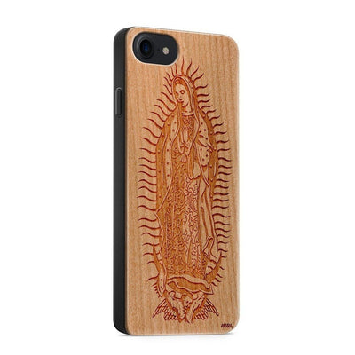 Wood  - Lady of Guadalupe iphone 6 7 8