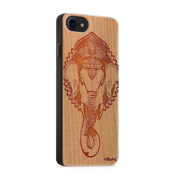 Wood  - Ganesh 5.0 - Milkyway Cases -  iPhone - Samsung - Clear Cute Silicone Phone Case Cover
