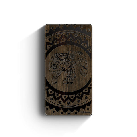 Walnut Power Bank Charger - Hindu Elephant