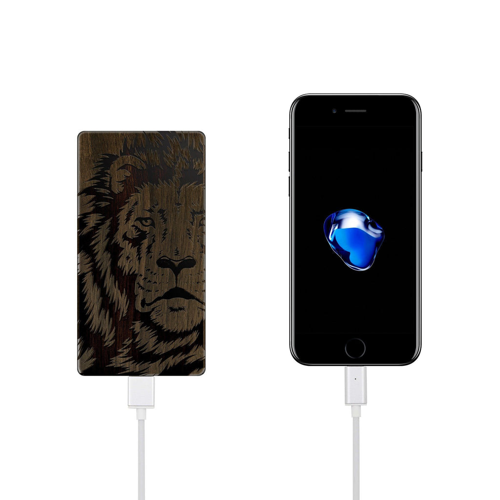 Walnut Power Bank Charger - King of the Jungle