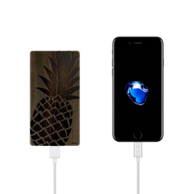 Walnut Power Bank Charger - Big Pineapple - Milkyway Cases -  iPhone - Samsung - Clear Cut Silicone Phone Case Cover