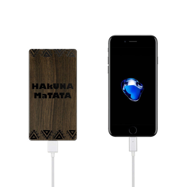 Walnut Power Bank Charger - Hakuna Matata - Milkyway Cases -  iPhone - Samsung - Clear Cut Silicone Phone Case Cover