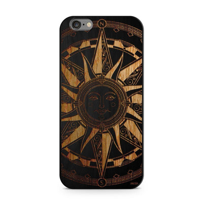 Wood  - Compass Tribal Sun