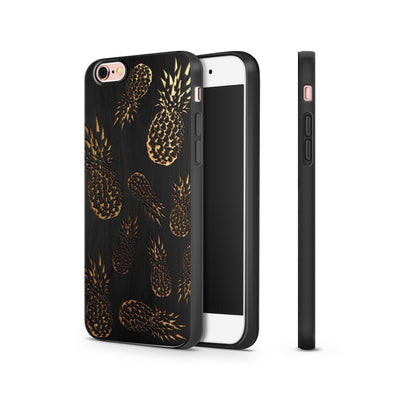 Black Bamboo - Pineapple Overload - Milkyway Cases -  iPhone - Samsung - Clear Cut Silicone Phone Case Cover