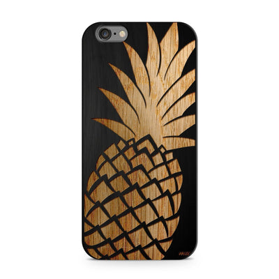 Black Bamboo - Big Pineapple - Milkyway Cases -  iPhone - Samsung - Clear Cut Silicone Phone Case Cover