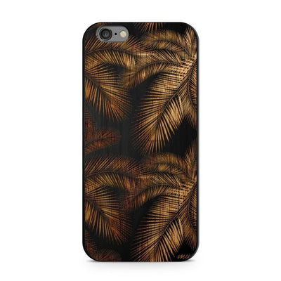 Wood  - Palm Leaves Milkyway iPhone Samsung Clear Cute Silicone 8 Plus 7 X Cover