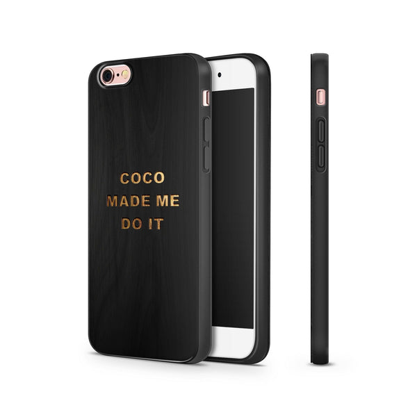 Black Bamboo - Coco Made Me Do It - Milkyway Cases -  iPhone - Samsung - Clear Cut Silicone Phone Case Cover