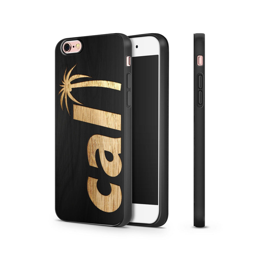 Black Bamboo - Cali Palm Tree - Milkyway Cases -  iPhone - Samsung - Clear Cut Silicone Phone Case Cover