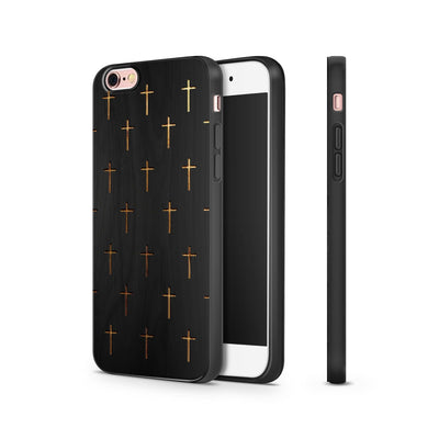 Black Bamboo - Mini Crosses - Milkyway Cases -  iPhone - Samsung - Clear Cut Silicone Phone Case Cover