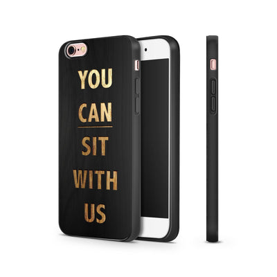 Black Bamboo - You Can Sit With Us - Milkyway Cases -  iPhone - Samsung - Clear Cut Silicone Phone Case Cover