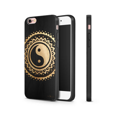 Black Bamboo - Tribal Yin Yang - Milkyway Cases -  iPhone - Samsung - Clear Cut Silicone Phone Case Cover
