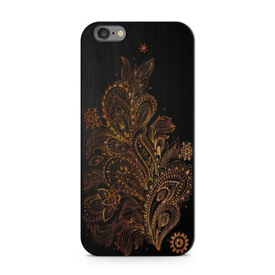 Wood  - Abstract Floral Pattern