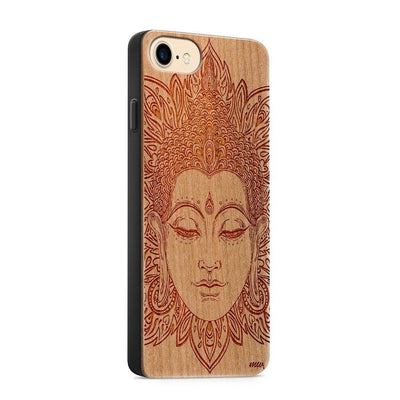 Wood  - Estoric Buddha - Milkyway Cases -  iPhone - Samsung - Clear Cute Silicone Phone Case Cover
