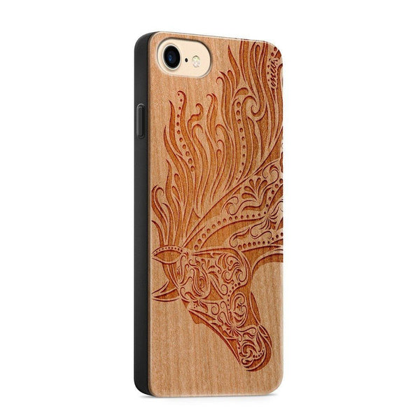 Wood  - Majestic Horse - Milkyway Cases -  iPhone - Samsung - Clear Cute Silicone Phone Case Cover