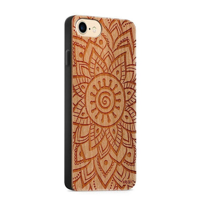 Wood  - Indy Mandala - Milkyway Cases -  iPhone - Samsung - Clear Cute Silicone Phone Case Cover