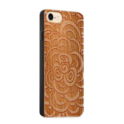 Wood  - 3D Mandala - Milkyway Cases -  iPhone - Samsung - Clear Cute Silicone Phone Case Cover