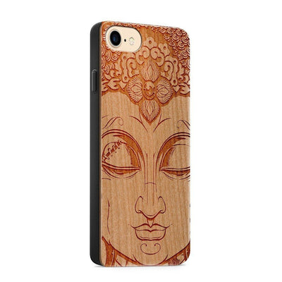 Wood  - Close Up Buddha - Milkyway Cases -  iPhone - Samsung - Clear Cute Silicone Phone Case Cover