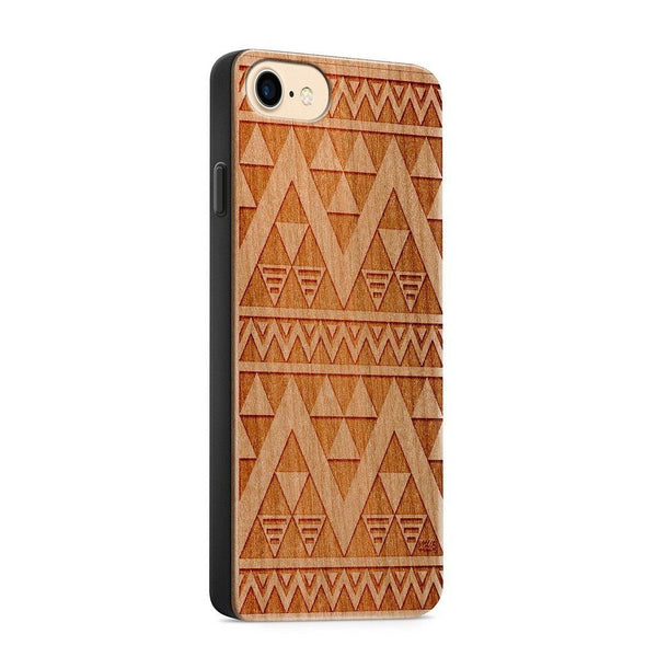 Wood  - Egyptian Mayan Aztec - Milkyway Cases -  iPhone - Samsung - Clear Cute Silicone Phone Case Cover