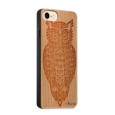 Wood  - Tribal Owl - Milkyway Cases -  iPhone - Samsung - Clear Cute Silicone Phone Case Cover