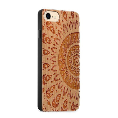 Wood  - Sunshine Aztec - Milkyway Cases -  iPhone - Samsung - Clear Cute Silicone Phone Case Cover