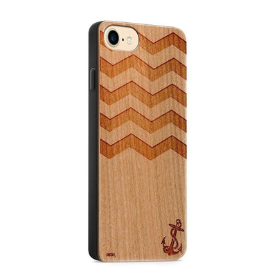 Wood  - Sunken Anchor - Milkyway Cases -  iPhone - Samsung - Clear Cute Silicone Phone Case Cover