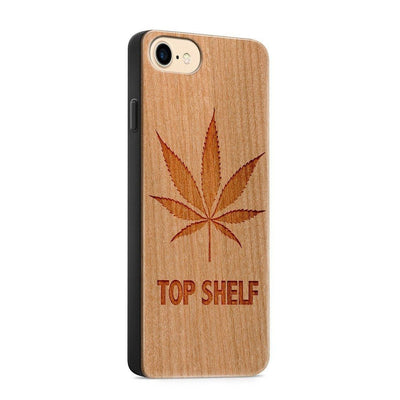 Wood  - Top Shelf - Milkyway Cases -  iPhone - Samsung - Clear Cute Silicone Phone Case Cover