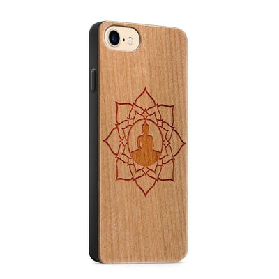 Wood  - Lotus Mandala - Milkyway Cases -  iPhone - Samsung - Clear Cute Silicone Phone Case Cover