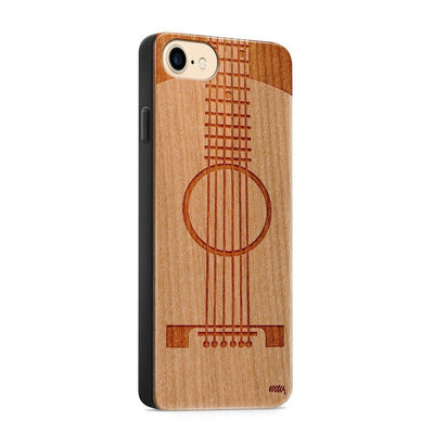 Wood  - Guitar - Milkyway Cases -  iPhone - Samsung - Clear Cute Silicone Phone Case Cover
