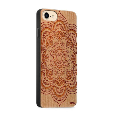 Wood  - Full Mandala - Milkyway Cases -  iPhone - Samsung - Clear Cute Silicone Phone Case Cover