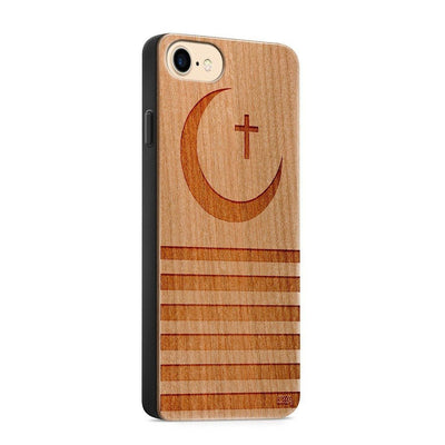 Wood  - Crescent Moon - Milkyway Cases -  iPhone - Samsung - Clear Cut Silicone Phone Case Cover